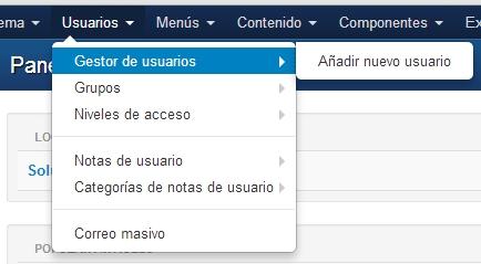 Crear Usuarios Registrados en Joomla