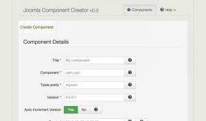 Creador de Componentes para Joomla