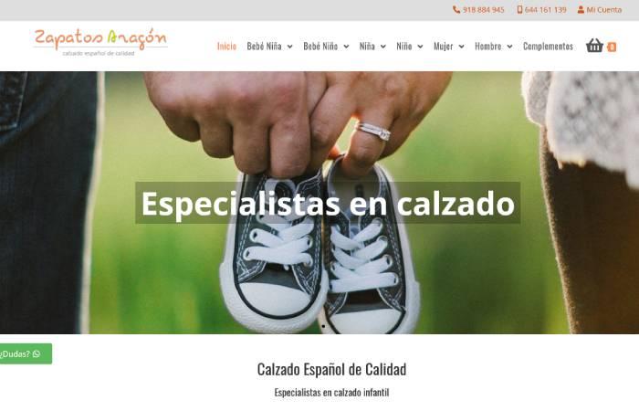 Imagen web Zapatos Aragón