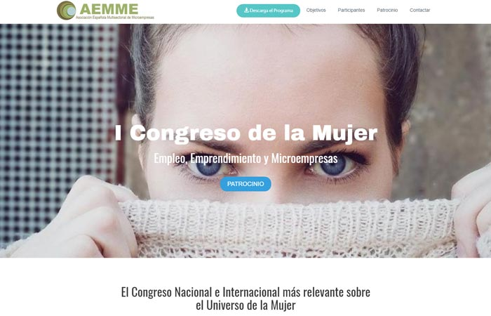 Landing Page para Marketing digital del Congreso de la Mujer - Madrid