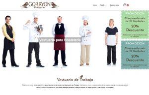 Diseño Web Gorryón Vestuario