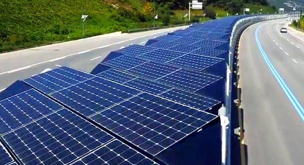Corea del sur y su carril bici de 32 KM de techo solar.