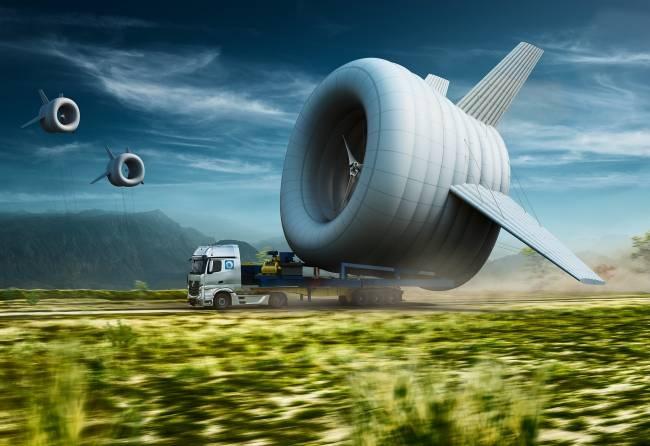 Primera turbina eólica en el aire con Wi-Fi
